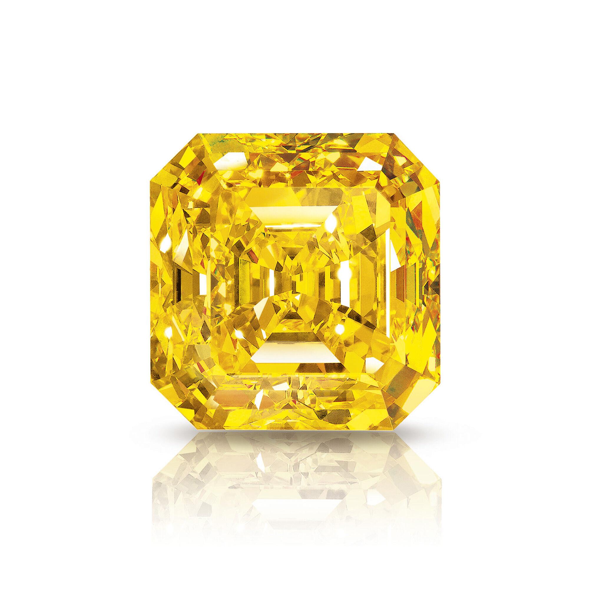 The Delaire Sunrise famous yellow diamond by Graff