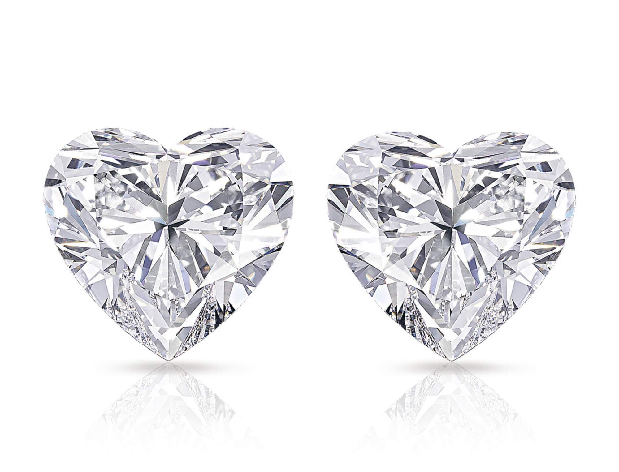 The Graff Sweethearts - 51.53 and 50.76 carat heart shape famous diamonds