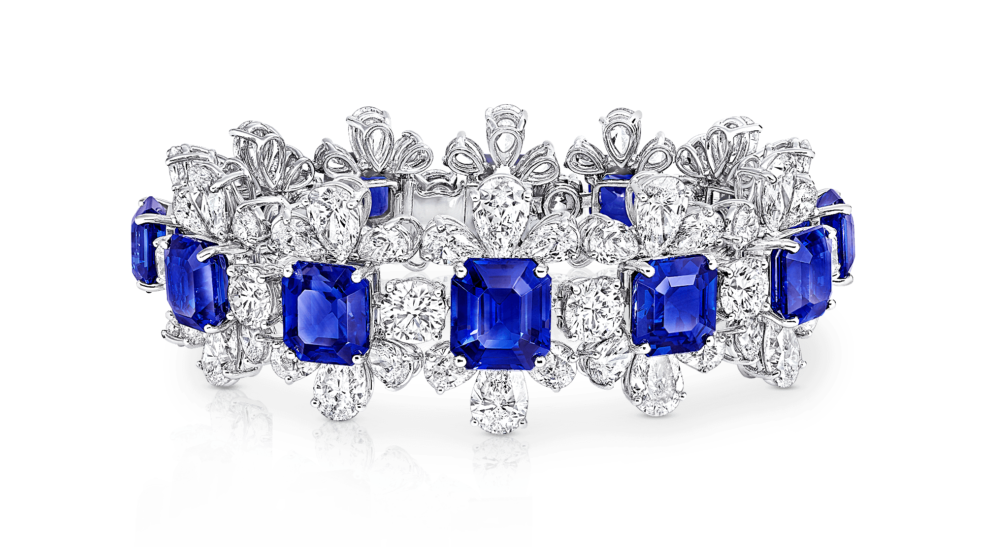 A Graff sapphire and white diamond high jewellery bracelet