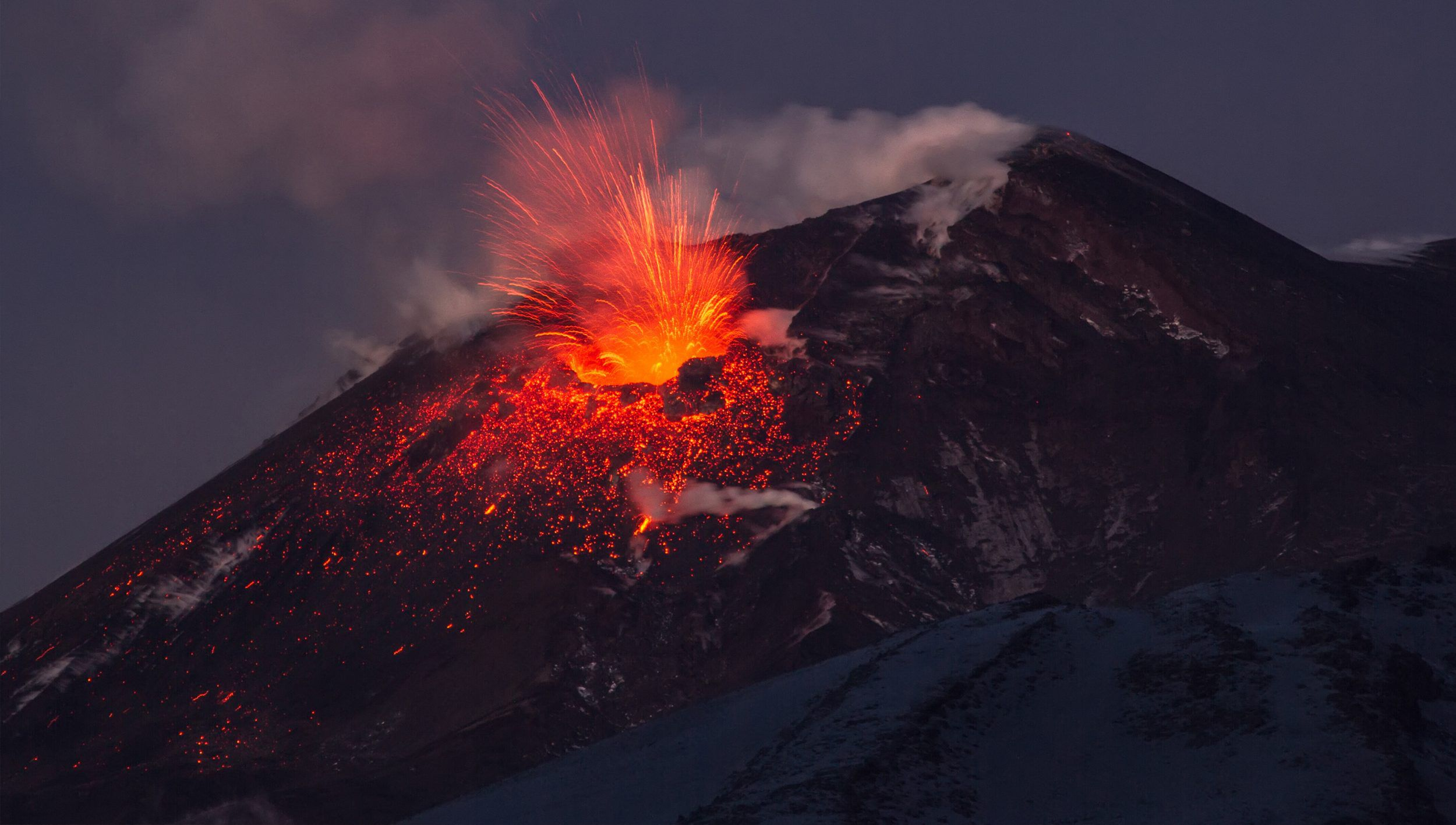 An erupting volcano - the miracle diamond creation