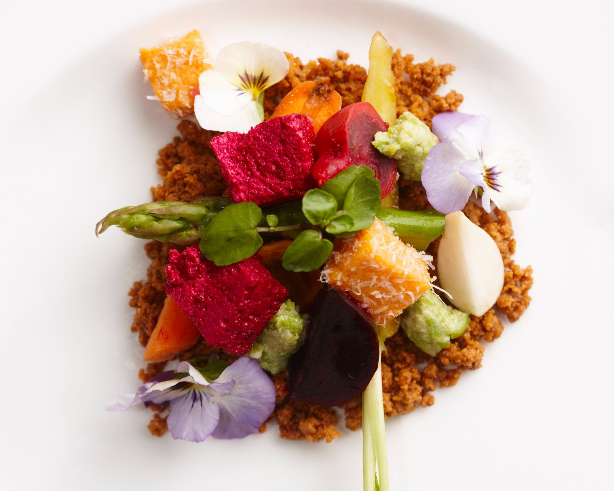 Close up of a dish served in the Delaire Graff Estate restaurant