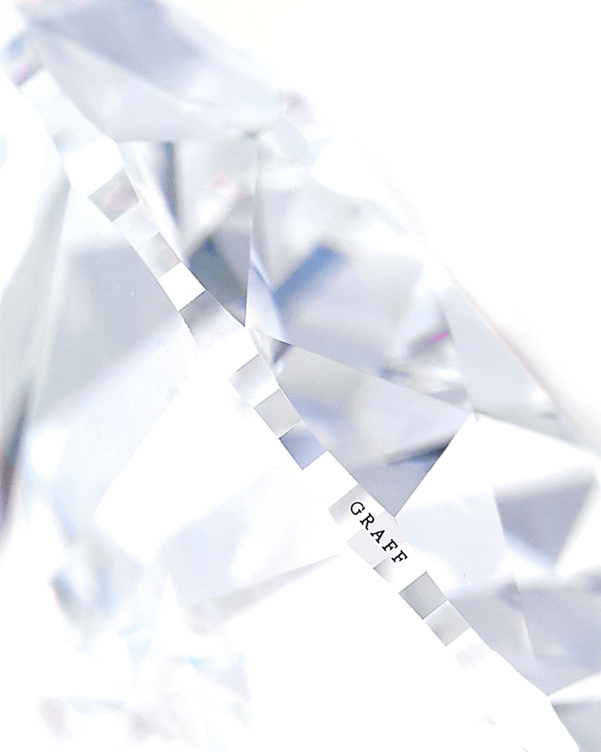 Close up of a Graff diamond
