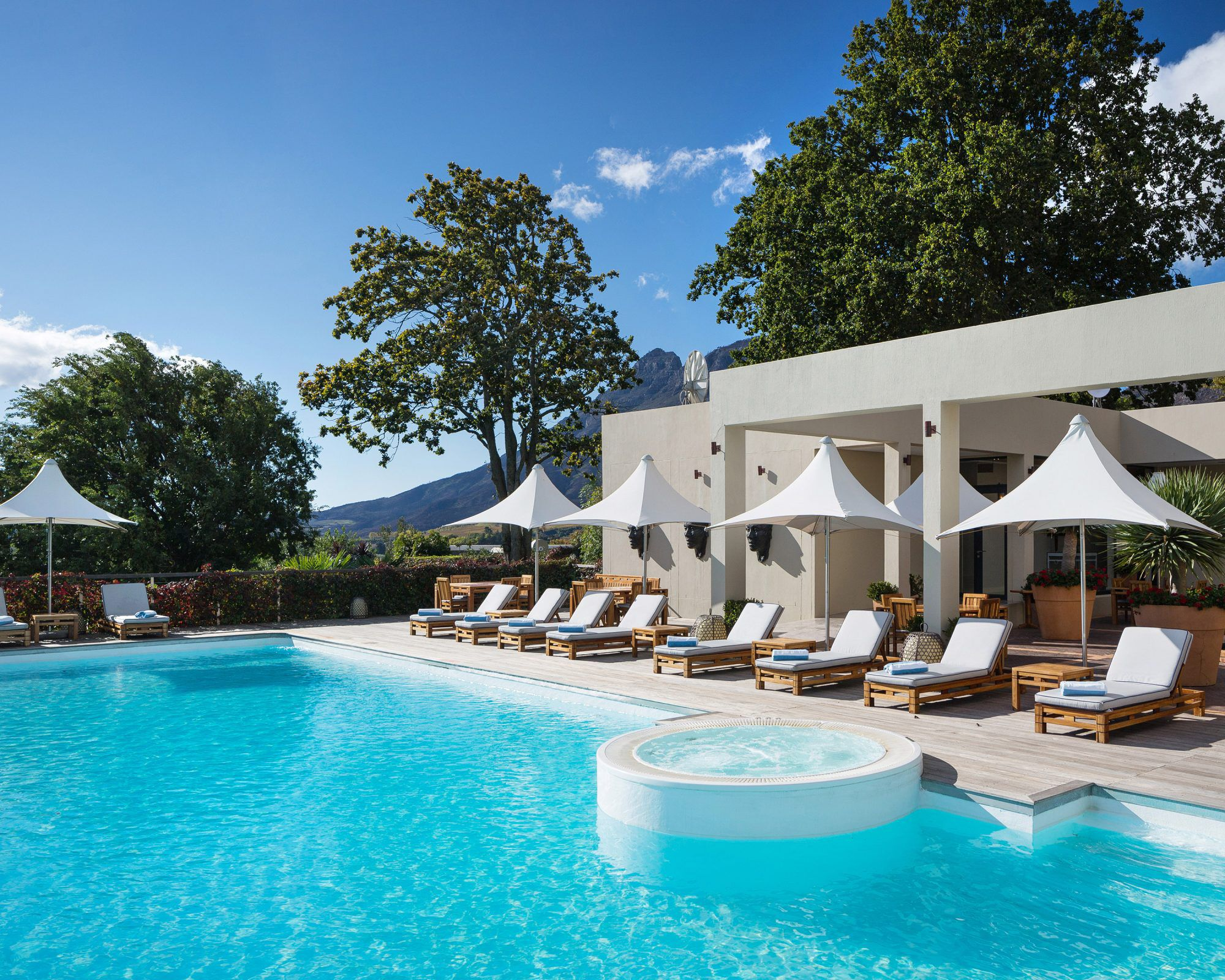 The Spa of the Delaire Graff Estate in South Africa