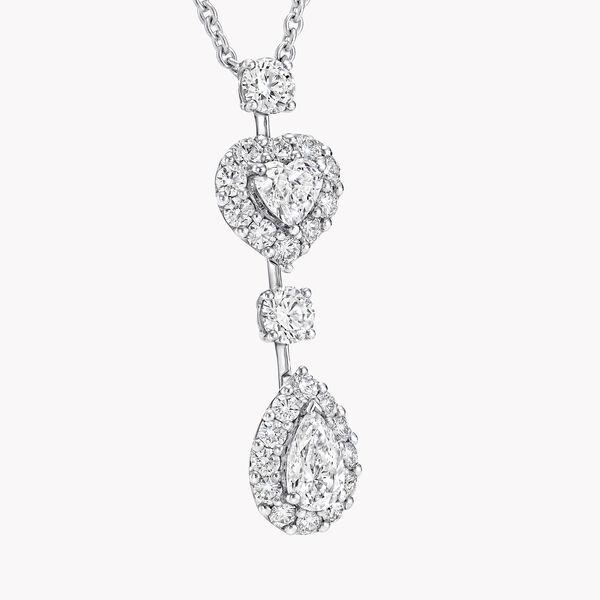 Icon心形和梨形钻石项链, , hi-res