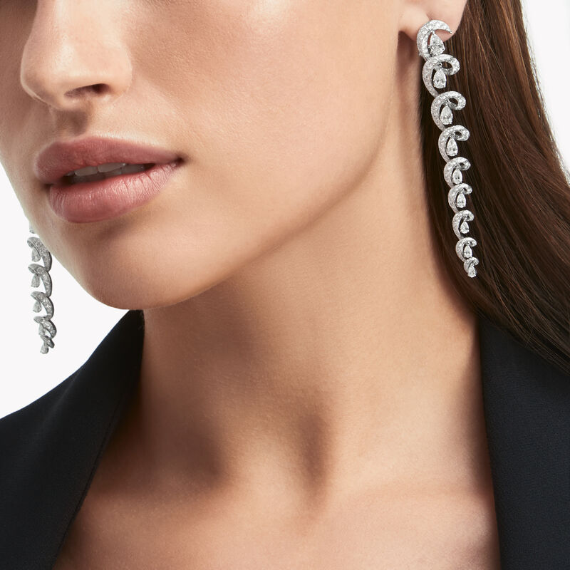 Inspired by Twombly Swirl Diamond Earrings, , hi-res