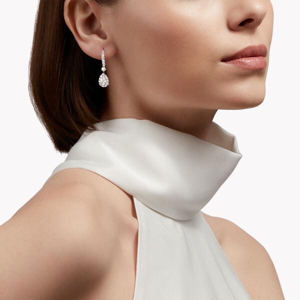 Icon梨形钻石耳环, , hi-res