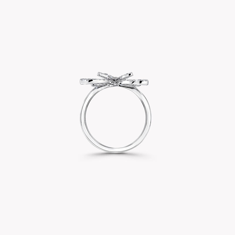 Butterfly Silhouette Diamond Mini Ring, , hi-res