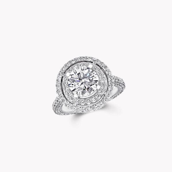 Twin Constellation圆形钻石订婚戒指, , hi-res