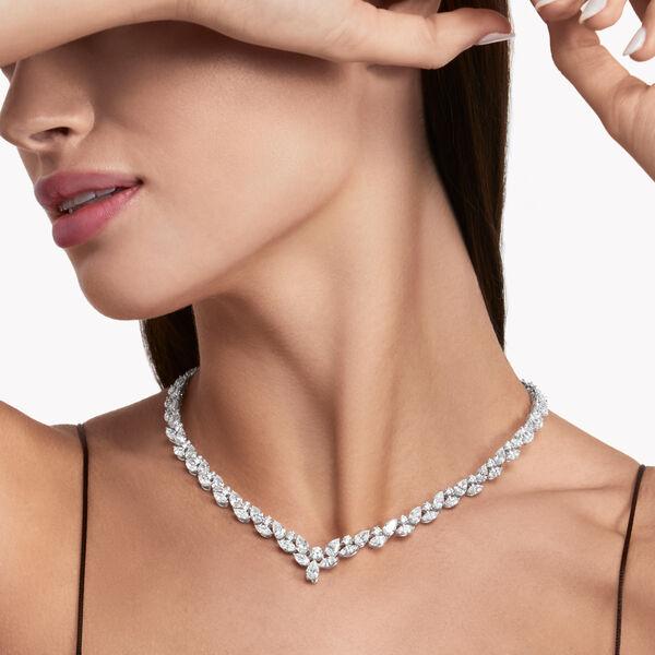 多形切割钻石项链, , hi-res