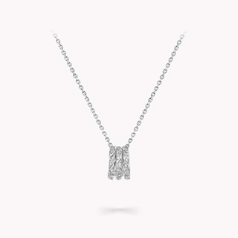 Laurence Graff Signature Triple Pavé Diamond Pendant, , hi-res