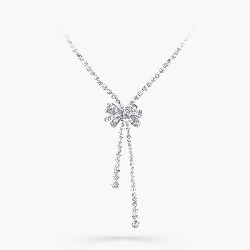 Tilda's Bow双行圆形钻石项链, , hi-res