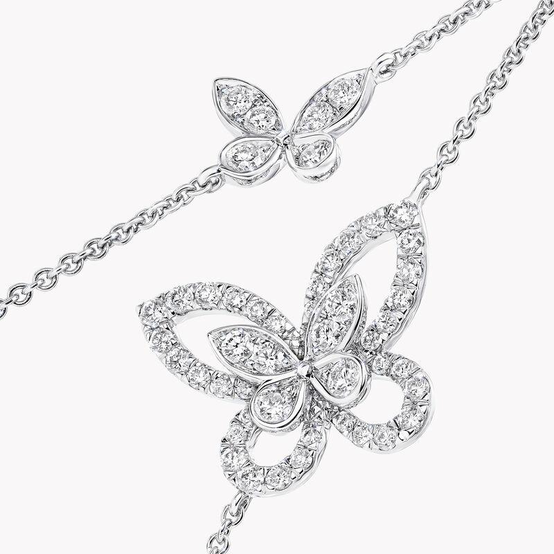 Butterfly Silhouette Diamond Mini Bracelet, , hi-res