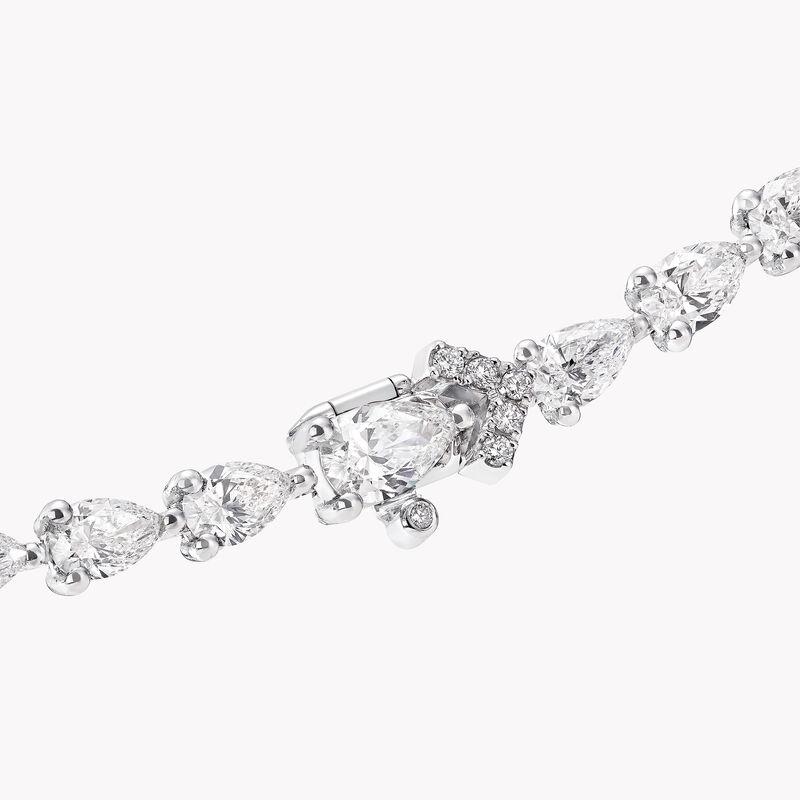 Pear Shape Diamond Cross-over Necklace, , hi-res