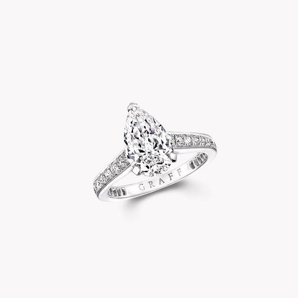 Flame梨形钻石订婚戒指, , hi-res