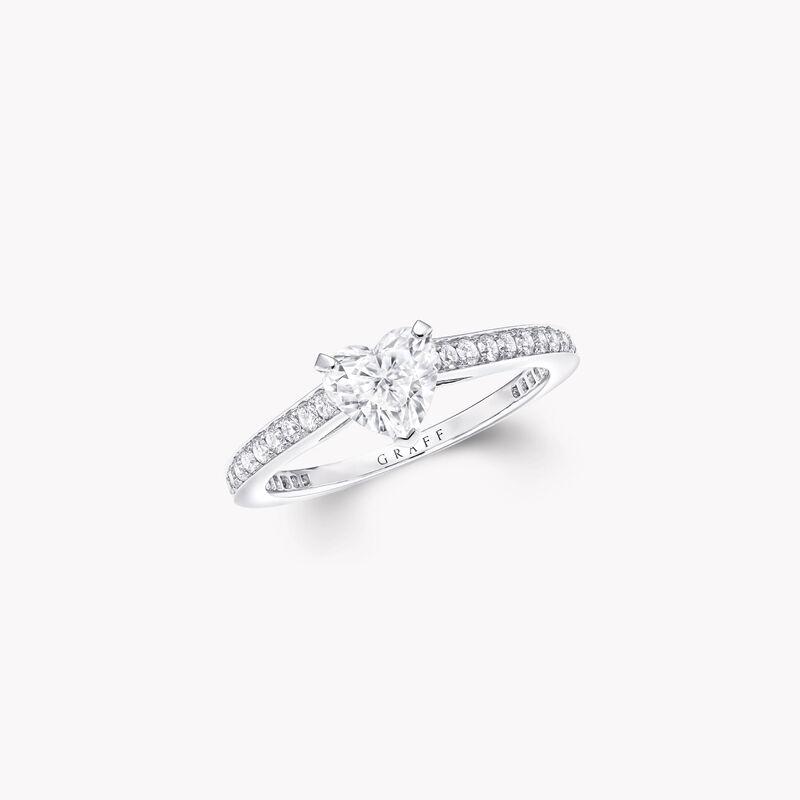 Flame心形钻石订婚戒指, , hi-res
