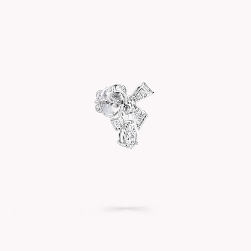 Tilda's Bow Baguette Cut Diamond Drop Earrings, , hi-res
