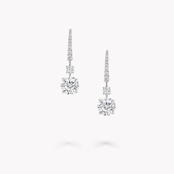 Round Diamond Solitaire Earrings, , hi-res