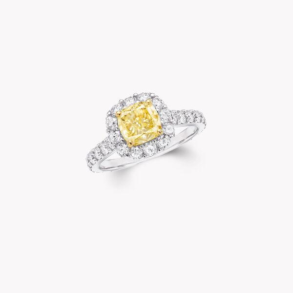 Icon雷地恩形切割黄钻和白钻戒指, , hi-res