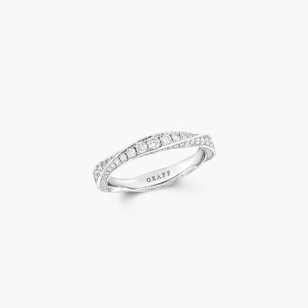Spiral密镶钻石戒指, , hi-res