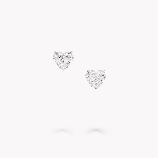 心形钻石耳钉, , hi-res