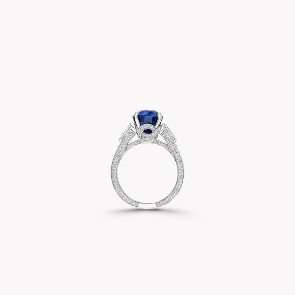 椭圆形蓝宝石戒指, , hi-res