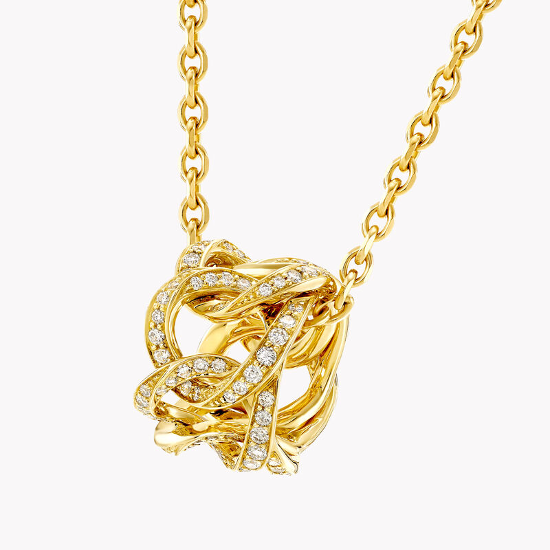 Inspired by Twombly Diamond Hoop Pendant, , hi-res