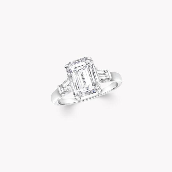 Promise祖母绿形切割钻石戒指, , hi-res