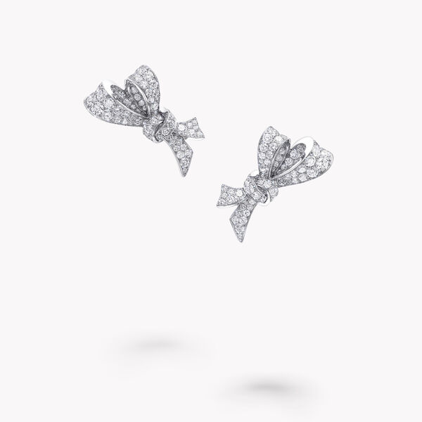Tilda's Bow钻石耳钉, , hi-res