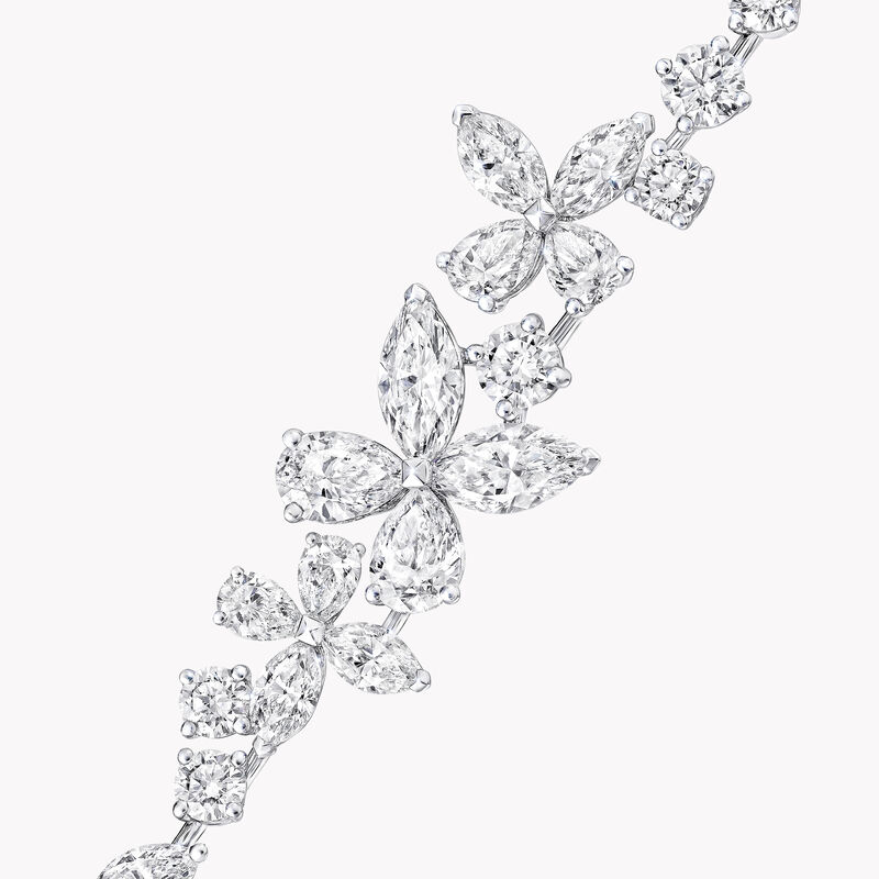 经典蝴蝶钻石手链, , hi-res