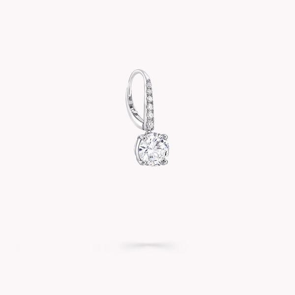 圆形钻石耳环, , hi-res