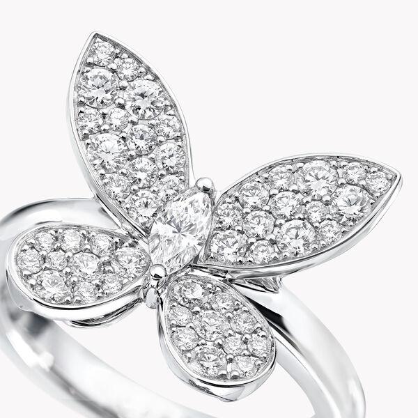 缱绻蝴蝶迷你钻石戒指, , hi-res