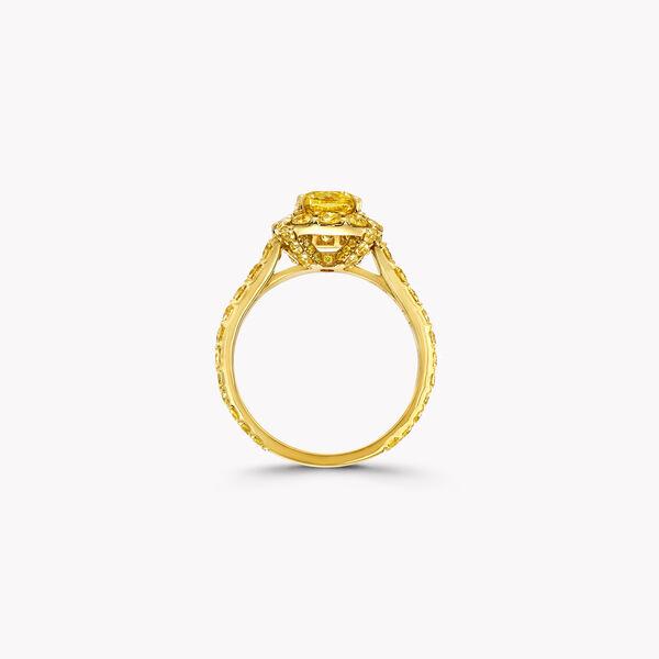 Icon枕形切割黄钻戒指, , hi-res