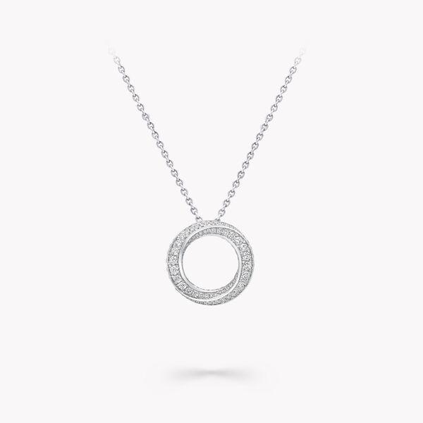 Spiral密镶钻石吊坠, , hi-res