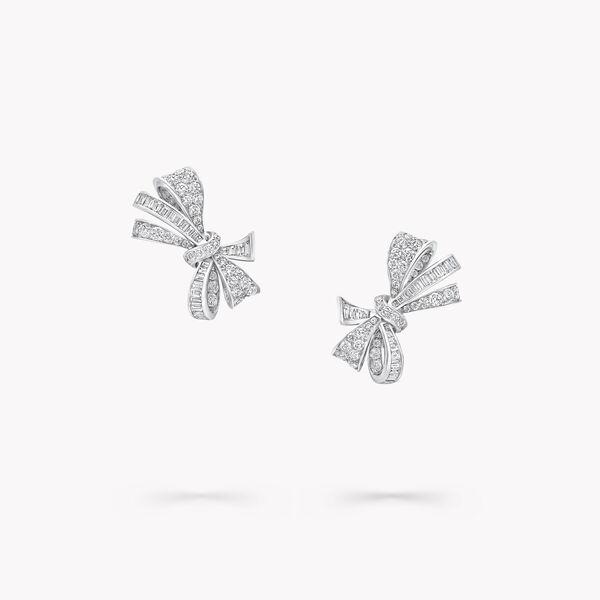 Tilda's Bow经典钻石耳钉, , hi-res