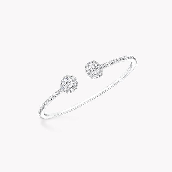 Icon圆形和祖母绿形切割钻石手镯, , hi-res