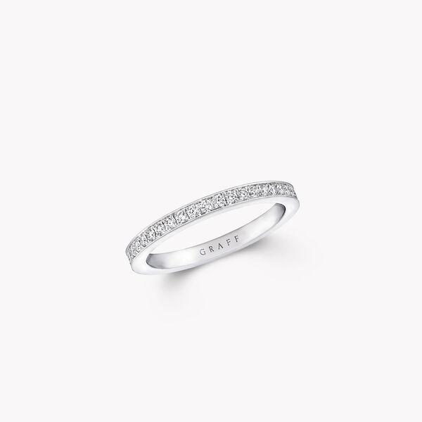 Thread Set Diamond Wedding Band, , hi-res