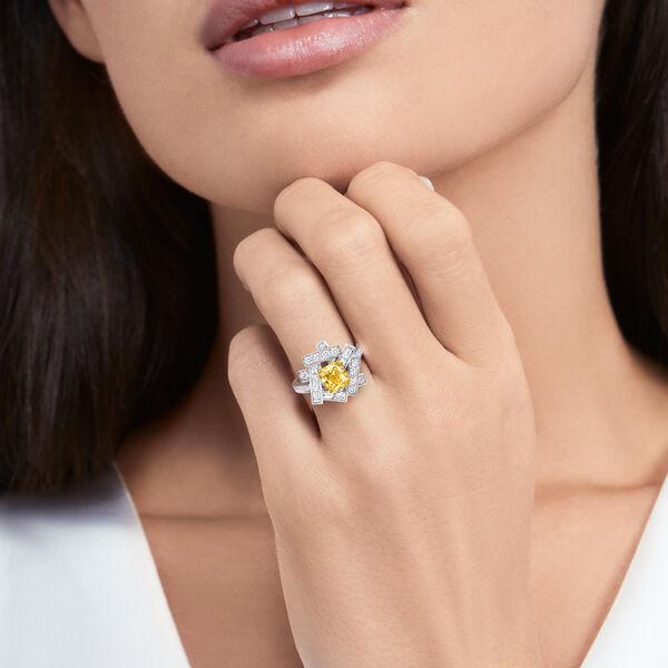 Threads黄钻和白钻戒指, , hi-res