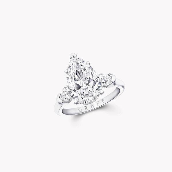 Promise梨形钻石订婚戒指, , hi-res