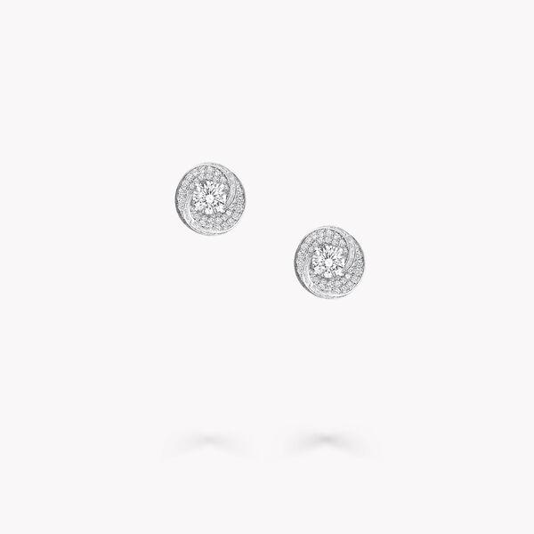 Swirl圆形钻石耳钉, , hi-res