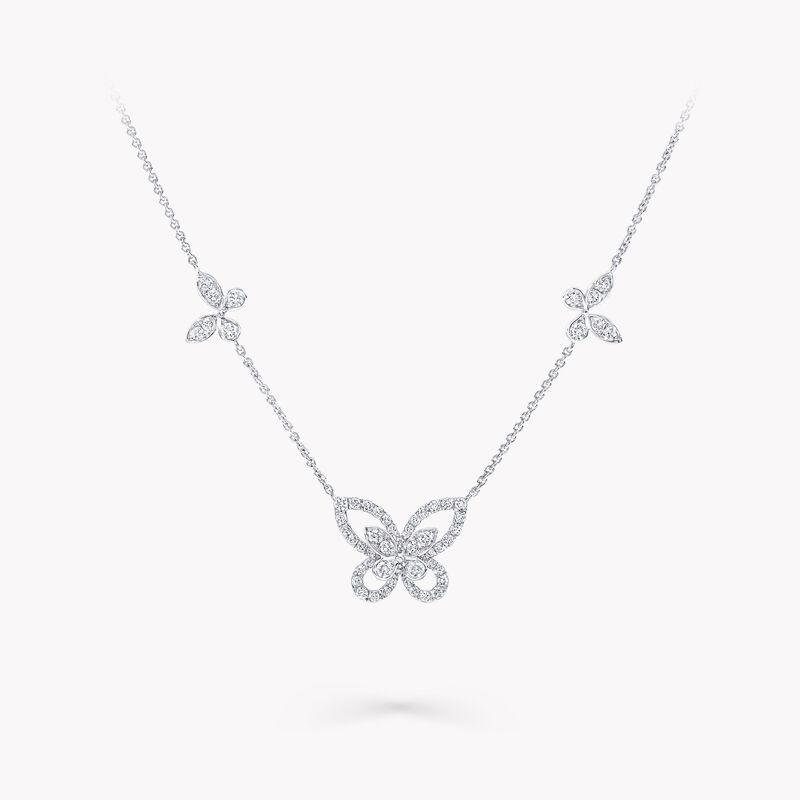 Multi Butterfly Silhouette Diamond Pendant, , hi-res