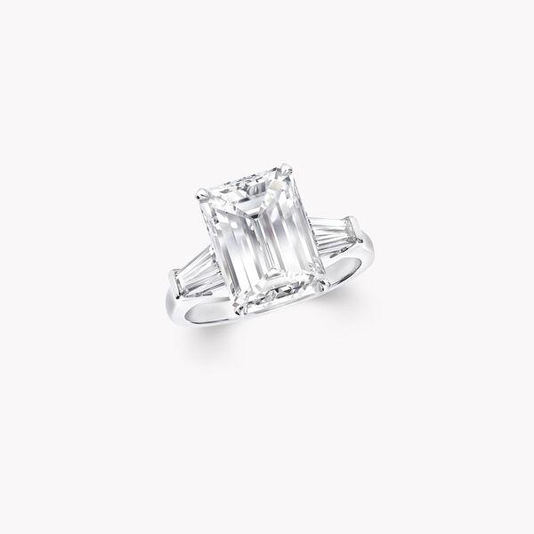 祖母绿形切割钻石高级珠宝戒指, , hi-res
