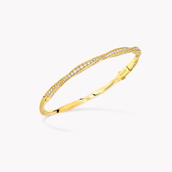 Spiral Pavé Diamond Bangle, , hi-res
