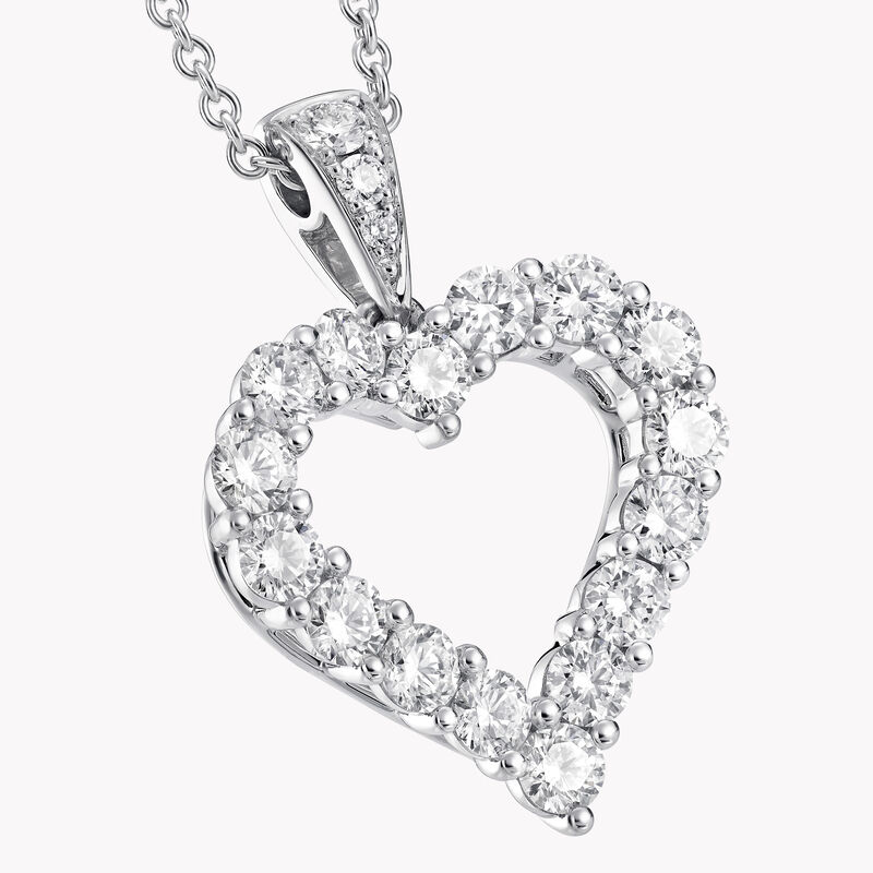 Diamond Heart Silhouette Pendant, , hi-res