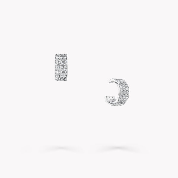Laurence Graff Signature密镶钻石三重奏环圈耳环, , hi-res