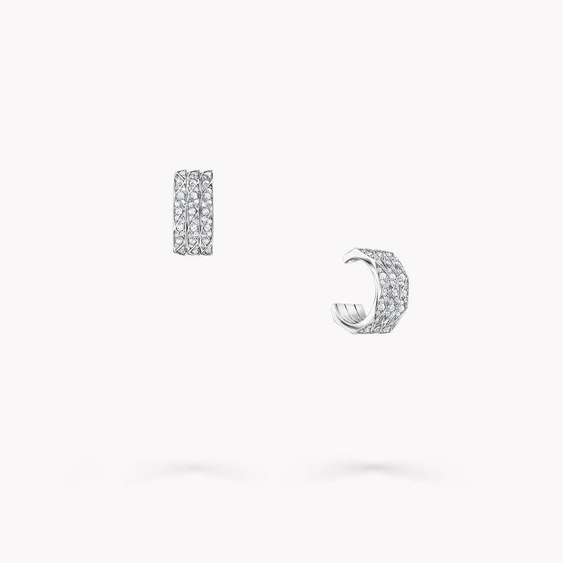 Laurence Graff Signature Triple Pavé Diamond Hoop Earrings, , hi-res