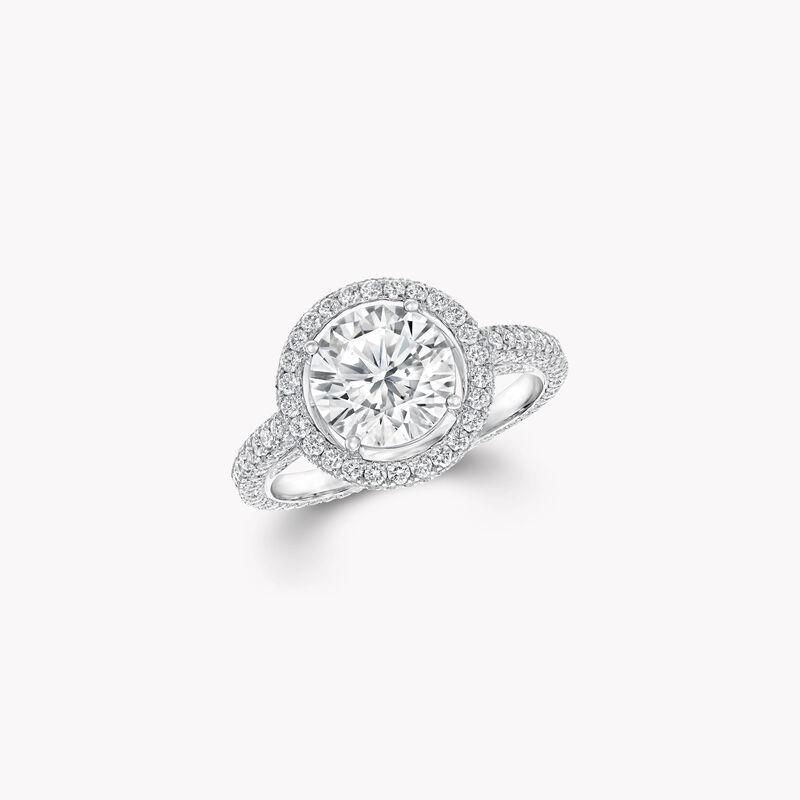 Constellation圆形钻石订婚戒指, , hi-res