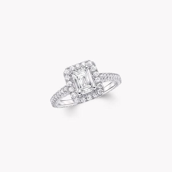 Constellation Emerald Cut Diamond Engagement Ring, , hi-res