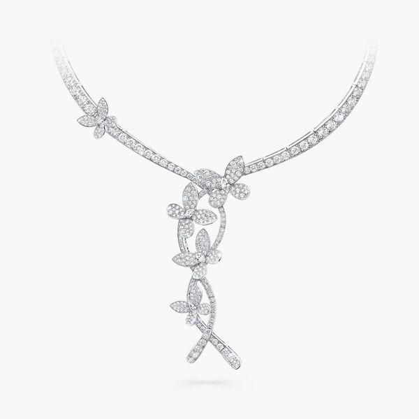 缱绻蝴蝶三重奏钻石项链, , hi-res