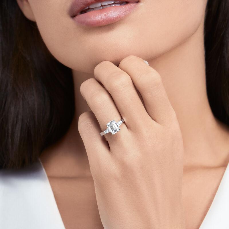 Promise Emerald Cut Diamond Engagement Ring, , hi-res