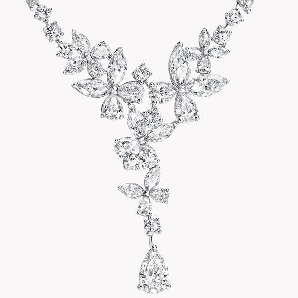 经典蝴蝶钻石项链, , hi-res
